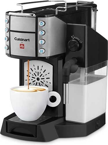 Cuisinart Buona Tazza Superautomatic Single Serve Espresso, Latte & Cappuccino Machine EM 500