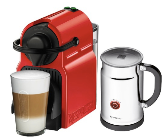 Nespresso Inissia Red Bundle