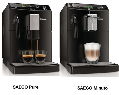saeco pure vs minuto focus super automatic espresso. Black Bedroom Furniture Sets. Home Design Ideas