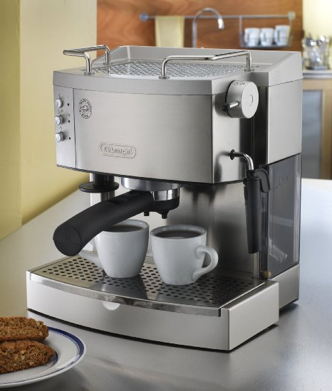 DeLonghi EC702 15-Bar-Pump Espresso Maker, Stainless