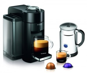 Nespresso A+GCC1-US-BK-NE VertuoLine Evoluo Deluxe Coffee & Espresso Maker with Aeroccino Plus Milk Frother