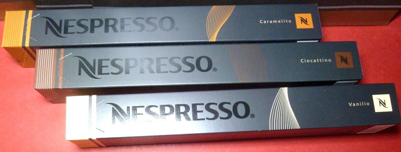 NESPRESSO CAPSULES NEW FLAVORS VANILLO,CIOCATTINO,CARAMELITO