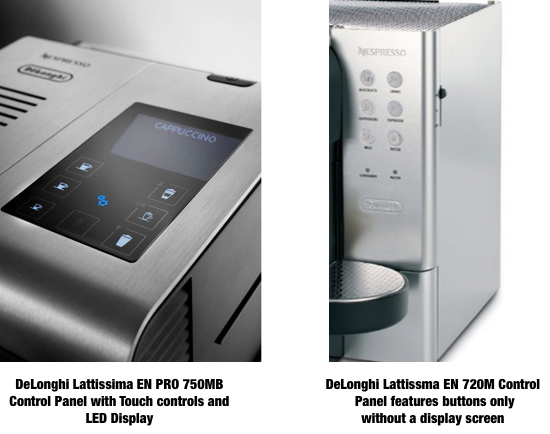delonghi lattissima en 750mb vs en 720 m which is best to buy super. Black Bedroom Furniture Sets. Home Design Ideas