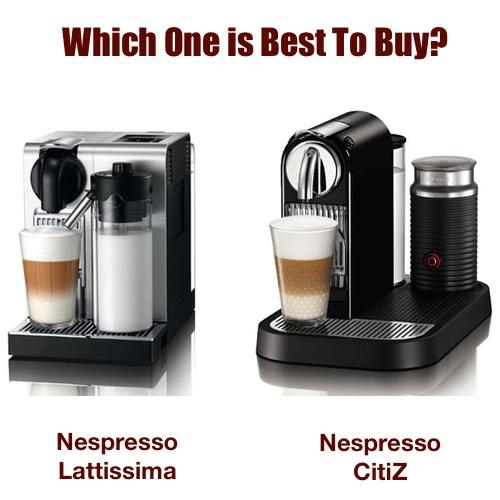 citiz nespresso lattissima vs citz