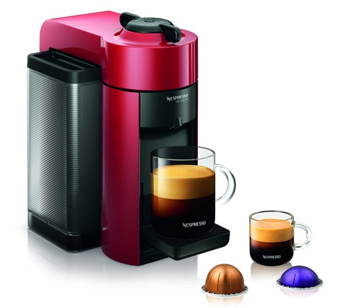 Nespresso GCC1-US-RE-NE VertuoLine Evoluo Coffee and Espresso Maker